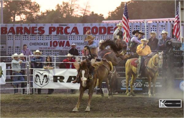 CNFR qualifer wins on 4x WNFR bronc at Cherokee, Iowa